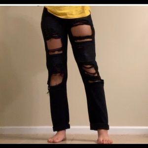 Boohoo Jeans - High waisted black jeans